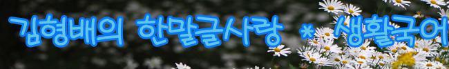 김형배의 한말글사랑